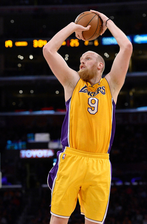 . <b>Chris Kaman</b>, center, averaged 10.4 points and 5.9 rebounds through 18.9 minutes in 30 games.  <br /><br /> <b> Outlook</b>: The Lakers and Kaman are expected to part ways mutually.  (Photo by John McCoy / Los Angeles Daily News)