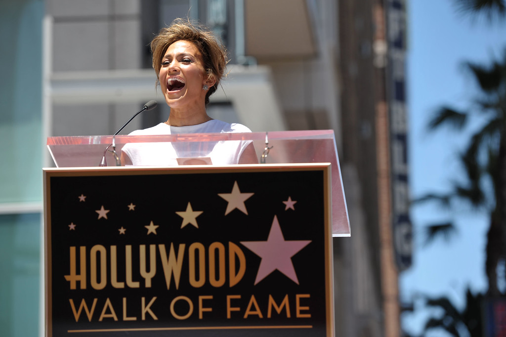 . Jennifer Lopez appears at her star ceremony on the Hollywood Walk of Fame on Thursday, June 20, 2013 in Los Angeles. (Photo by John Shearer/Invision/AP)