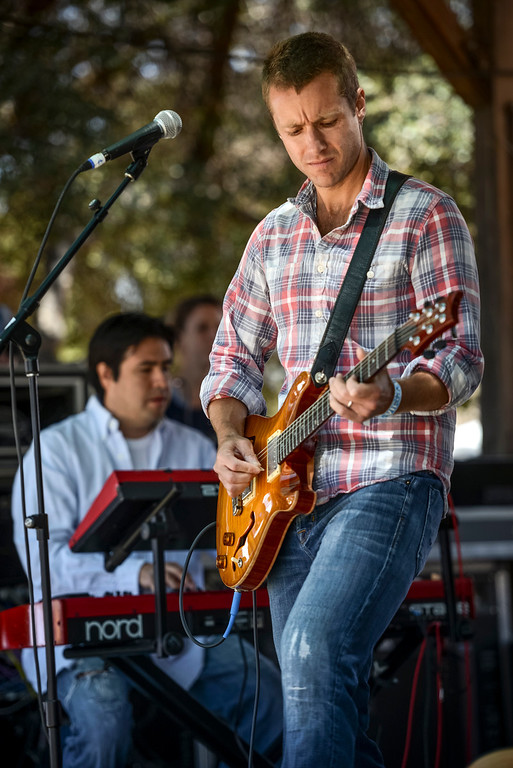 """. \""""Franchot Tone\"""" performs at the 40th annual Topanga Days celebration in Topanga Sunday.  The celebration continues Monday with more bands scheduled to perform.   Photo by David Crane/Los Angeles Daily News"""