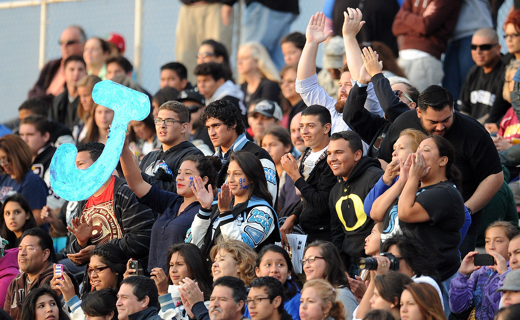 . A full house during the annual East vs. West San Gabriel Valley Hall of Fame all-star football game at West Covina High School on Friday, May 17, 2013 in West Covina, Calif.  (Keith Birmingham Pasadena Star-News)