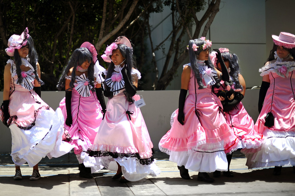 . Cosplaying fans don costumes inspired by the Black Butler character during Anime Expo 2014 at the Los Angeles Convention Center July 3, 2014.  The expo, which runs from July 3-6, is expect to draw 200,000 Japanese animation and pop culture fans.(Andy Holzman/Los Angeles Daily News)