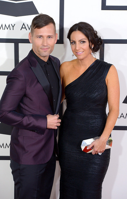 . Kaskade and guest arrive at the 56th Annual GRAMMY Awards at Staples Center in Los Angeles, California on Sunday January 26, 2014 (Photo by David Crane / Los Angeles Daily News)
