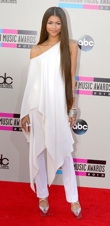 . Zendaya arrives to the American Music Awards  at the Nokia Theatre in Los Angeles, California on Sunday November 24, 2013 (Photo by Andy Holzman / Los Angeles Daily News)
