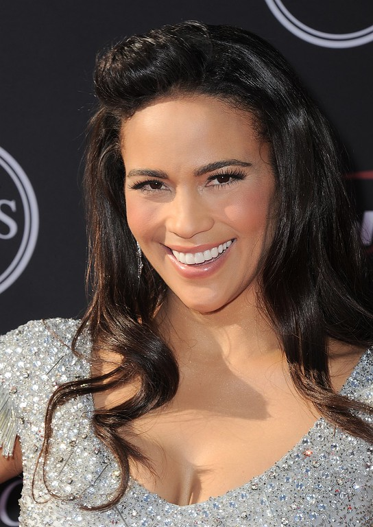 . Actress Paula Patton arrives at the ESPY Awards on Wednesday, July 17, 2013, at Nokia Theater in Los Angeles. (Photo by Jordan Strauss/Invision/AP)