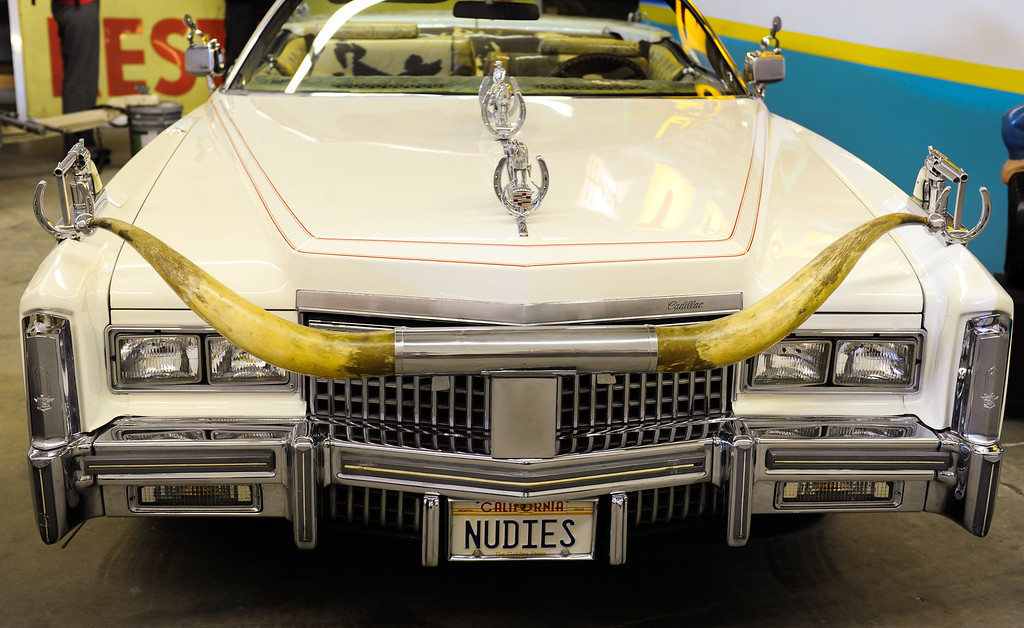 . A 1975 Nudie Cohn Cadillac at Valley Relics Museum in Chatsworth. (Photo by Michael Owen Baker/L.A. Daily News)