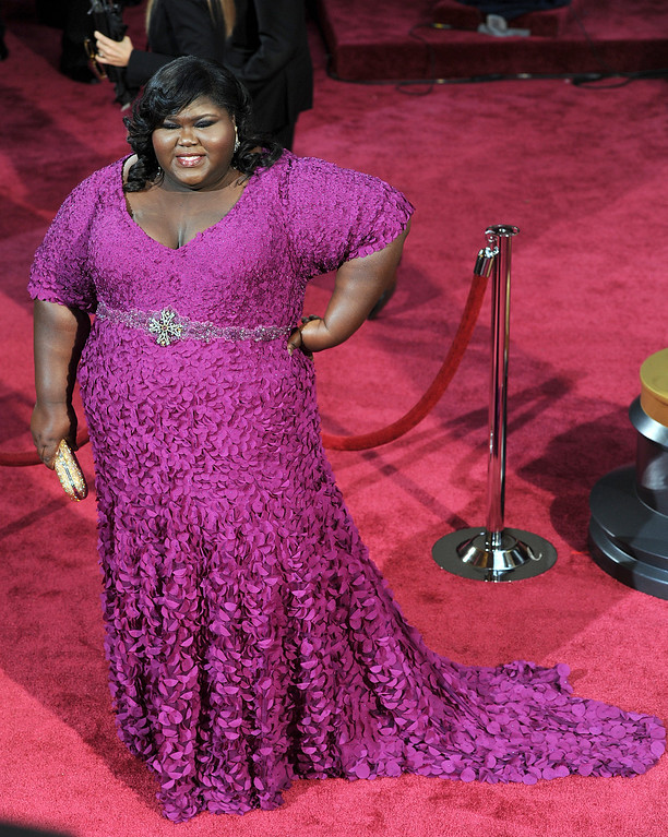 . Gabourey Sidibe attends the 86th Academy Awards at the Dolby Theatre in Hollywood, California on Sunday March 2, 2014 (Photo by John McCoy / Los Angeles Daily News)
