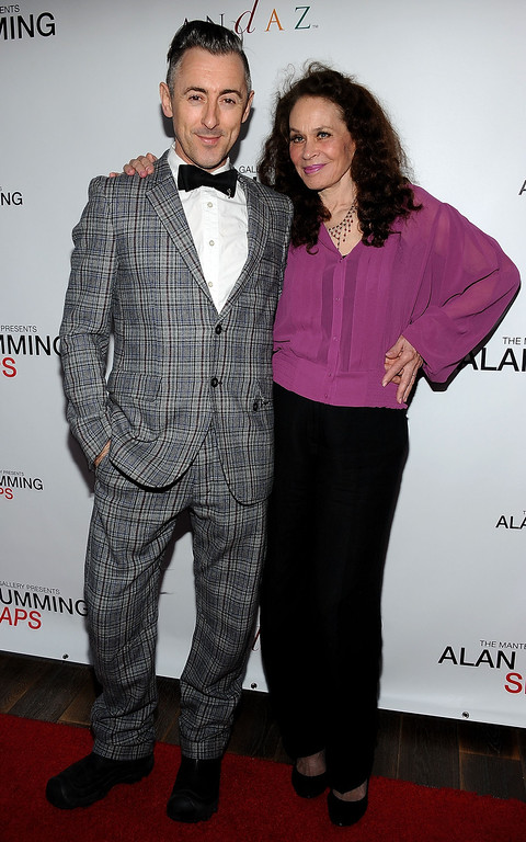 . Alan Cumming (L) and Karen Black  arrive at the reception celebrating the release of the limited edition fine art photography of Alan Cumming  in Los Angeles, California, on April 5, 2012.   (VALERIE MACON/AFP/Getty Images)