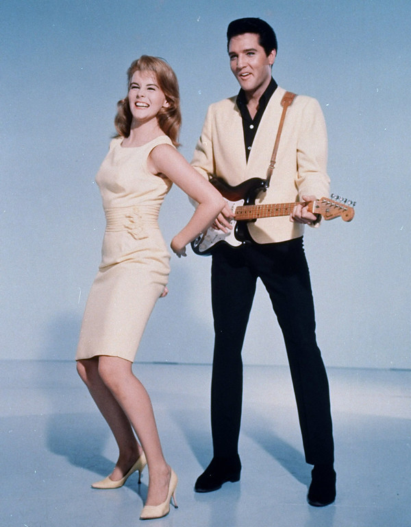 ". Elvis Presley and actress Ann-Margret shown in an MGM Studios-supplied  publicity photo for the 1964 film, ""Viva Las Vegas.\""  (AP Photo/MGM Studios)"