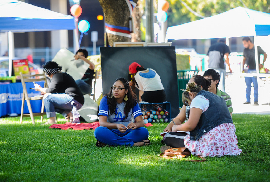 . Zealous Creative and San Bernardino Generation Now host the Turn Up the Vote event at Court Street Square in San Bernardino on Sunday, Oct. 20, 2013. The organizations hosted the event to encourage young adults to participate in the November 5 election. (Rachel Luna / San Bernardino Sun)