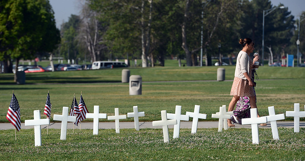 . In recognition of Memorial Day, Cal State�s Student Veterans Organization and the Veterans Success Center pays tribute to fallen military service members, and former CalState student Alejo Thompson. Thompson was a U.S. Army 1st Lt. killed  last year in Parwan Province. Based at Fort Carson, Colo., he was assigned to the A Company, 1st Battalion, 12th Infantry Regiment, 4th Infantry Division. (Rick Sforza/Staff photographer, The Sun)