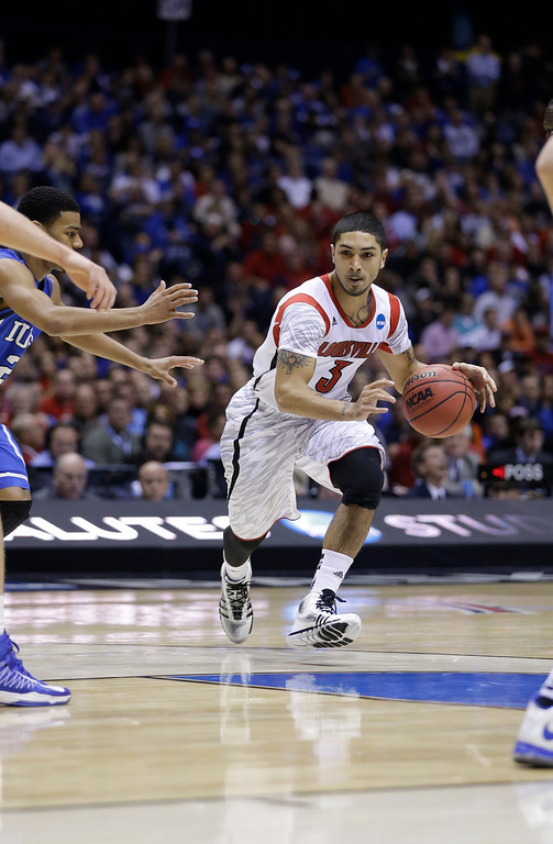 . <b>Peyton Siva</b> <br />Guard, 6-0, 185. Averaged 10.0 points, 5.7 assists and 2.3 steals as a senior last year at Louisville. Athletic floor general who led the Cardinals to the NCAA championship. Shot only 40.4 percent from the field and 28.8 percent from 3-point range. (AP Photo/Darron Cummings)