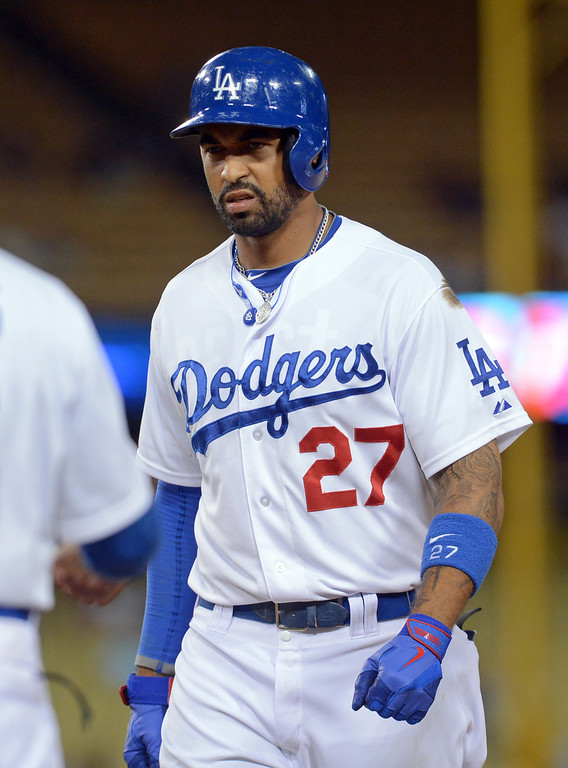 . Matt Kemp Kemp extended his hitting streak to 12 games with an RBI single in the 8th inning against the Nationals May 13, 2013 in Los Angeles, CA.(Andy Holzman/Staff Photographer)