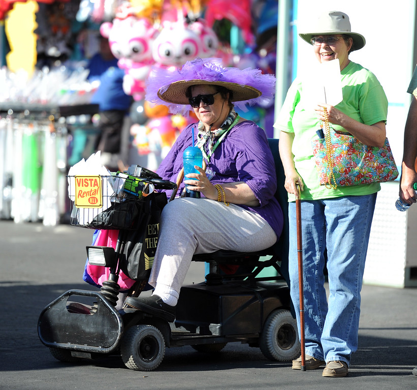 . Fair goers enjoy the Diamond Bar community parade during the 91st Annual L.A. County Fair in Pomona, Calif. on Thursday, Sept. 5, 2013.   (Photo by Keith Birmingham/Pasadena Star-News)
