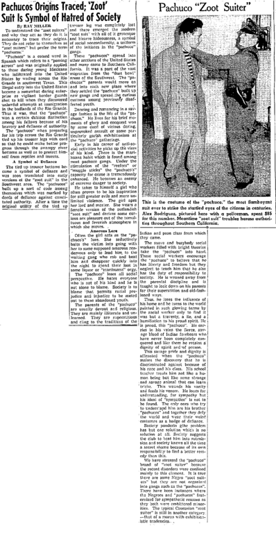 . During the summer of 1943, while the heat hit the streets in the form of fights and riots between the sailors and latino youth, newspapers headlines only fueled the fires of racism and fear. (Article originally published in the Long Beach Independent on June 11, 1943)
