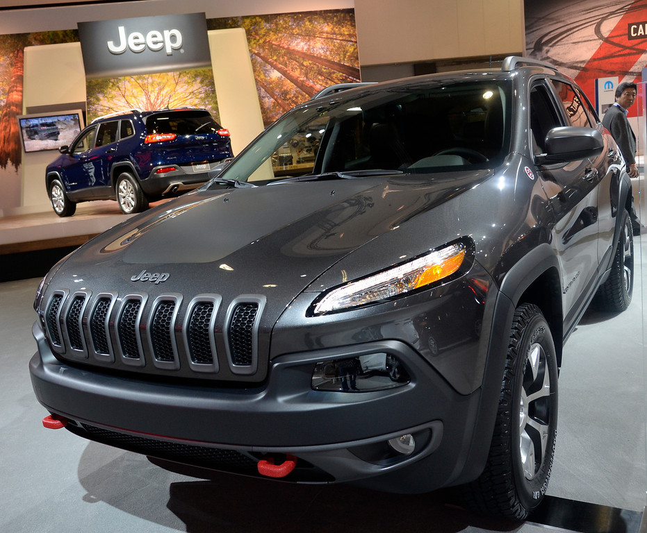 . Nov 22,2013 Los Angeles CA. The new 2014 Jeep Cherokee Trailhawk on displays during the 2nd media day at the Los Angeles Auto Show.The show opens today Friday and runs through Dec 1st. Photo by Gene Blevins/LA Daily News