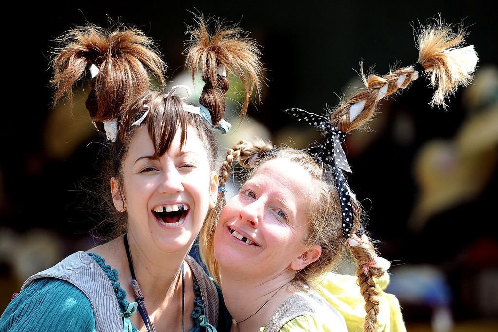 . The Wishing Well wenches on opening day of the Renaissance Pleasure Faire at Santa Fe Dam Recreation Area in Irwindale, Calif., on Saturday, April 5, 2014.  (Keith Birmingham Pasadena Star-News)