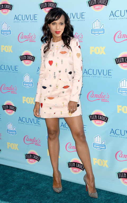 . UNIVERSAL CITY, CA - AUGUST 11:  Actress Kerry Washington attends the Teen Choice Awards 2013 at Gibson Amphitheatre on August 11, 2013 in Universal City, California.  (Photo by Jason Merritt/Getty Images)