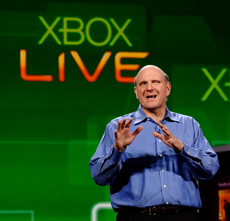 . Microsoft Chief Executive Officer Steve Ballmer delivers a preshow keynote address at the 2011 International CES. Las Vegas NV. Jan 5,2011. Photo by Gene Blevins/LA Daily News