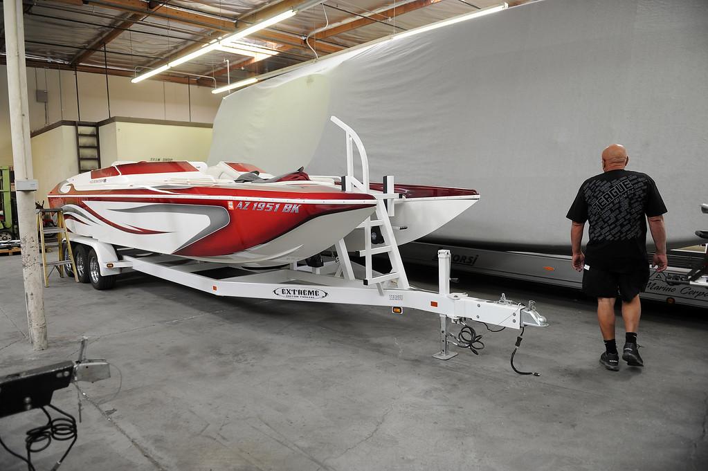 . Bob Teague at Teague Custom Marine in Valencia Tuesday, June 25, 2013. (Hans Gutknecht/Los Angeles Daily News)