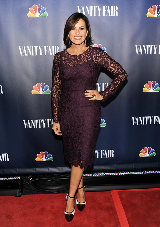 ". Actress Mariska Hargitay from ""Law & Order\"" attends the NBC 2013 Fall season launch party hosted by Vanity Fair at Le Bain on Monday, Sept. 16, 2013 in New York. (Photo by Evan Agostini/Invision/AP)"