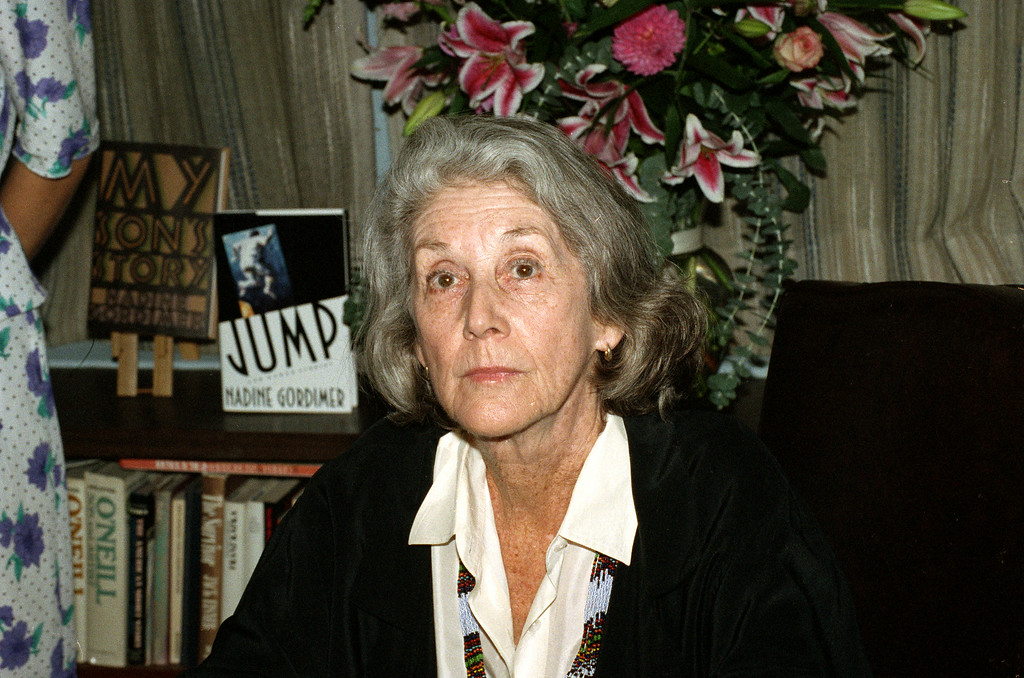 . Nadine Gordimer, winner of the 1991 Nobel Prize for literature is shown at her publisher\'s office in New York Thursday, Oct. 3, 1991. Gordimer, 67, the first woman in 25 years to win the prize, is a South African novelist whose anti-Apartheid  works were once denounced by the white-minority government in her homeland. (AP Photo/Ed Bailey)