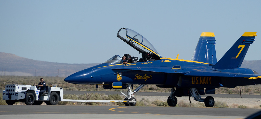 . March 19,2014. Lancaster CA.  as the US Navy Blue Angels arrive at Fox field Wednesday morning. The Los Angels County air show with the Blue Angels will happen this Friday and Saturday at Fox Field.  Photo   by Gene Blevins/LA DailyNews