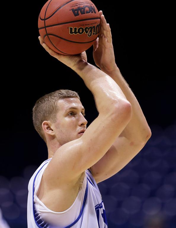 . <b>22. Brooklyn - Mason Plumlee </b> <br />7-0, 238 Center, Duke  (AP Photo/Michael Conroy)