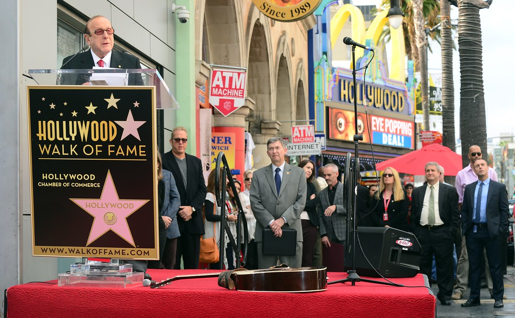 . Producer Clive Davis speaks at a ceremony honoring the late Janis Joplin with her posthumous Hollywood \'Star\' on November 4, 2013 in Hollywood, California. Joplin, who had her siblings Michael and Laura at the ceremony, would have turned 70 years old this year and is the recipient of the 2,510th Star on the Hollywood Walk of Fame in the Category of Recording.         (FREDERIC J. BROWN/AFP/Getty Images)