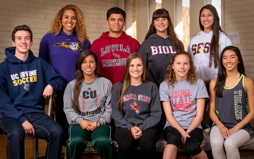 . San Gabriel Valley Tribune area athletes have signed National Letters of Intent on National Signing Day Feb. 5, 2014.  (Staff photo by Leo Jarzomb/San Gabriel Valley Tribune)
