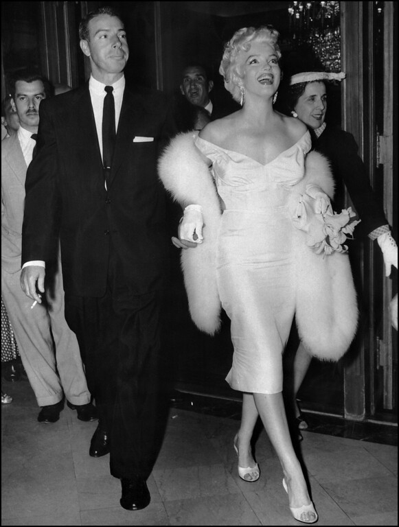 . Picture dated of the fifties showing American actress Marilyn Monroe (R) with her husband baseball legend Joe DiMaggio. (AFP/AFP/Getty Images)