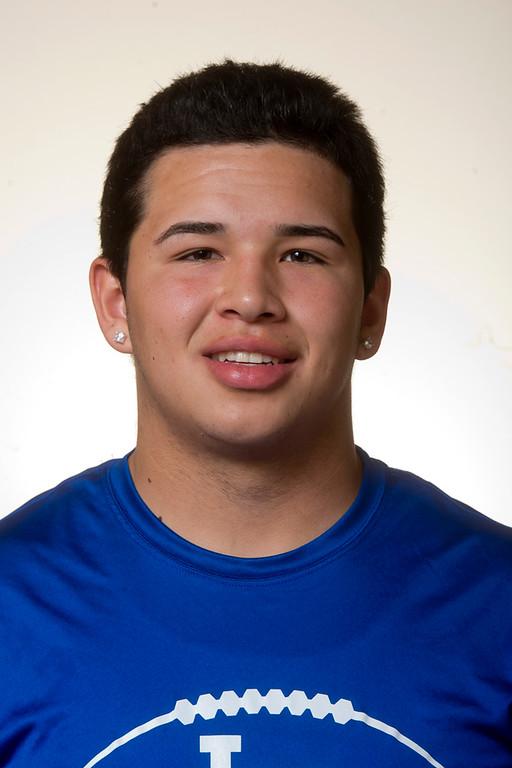 . Whittier Daily News All-area Carlos Martin of La Habra High School football in Whittier on Thursday, Jan. 2, 2014. (Watchara Phomicinda/ Whittier Daily News)