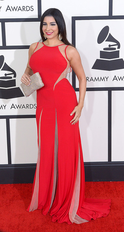 . Mayra Veronica arrives at the 56th Annual GRAMMY Awards at Staples Center in Los Angeles, California on Sunday January 26, 2014 (Photo by David Crane / Los Angeles Daily News)