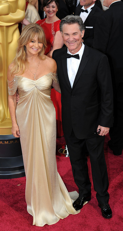. Goldie Hawn and actor Kurt Russell attend the 86th Academy Awards at the Dolby Theatre in Hollywood, California on Sunday March 2, 2014 (Photo by John McCoy / Los Angeles Daily News)