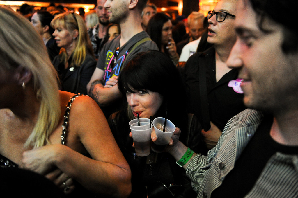. People get prepped for the Joan Jett and the Blackhearts show at the House of Blues as part of the Sunset Strip Music Festival, Thursday, August 1, 2013. (Michael Owen Baker/L.A. Daily News)