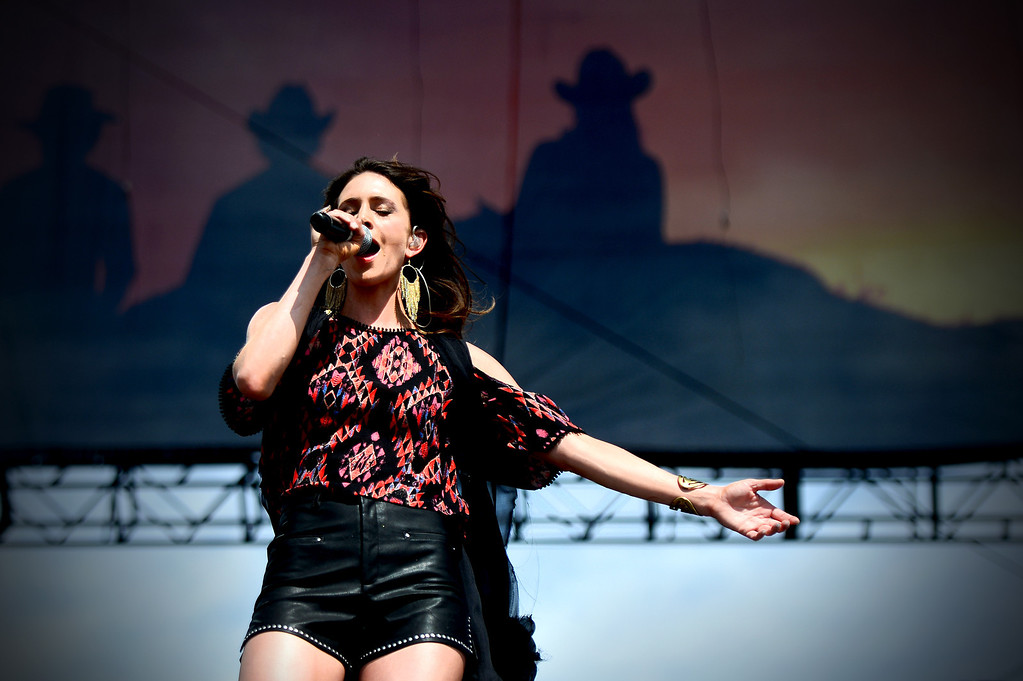 . Kelleigh Bannen performs during the first day of Stagecoach Country Music Festival in Indio, Friday, April 25, 2014. (Photo by Sarah Reingewirtz/Pasadena Star-News)