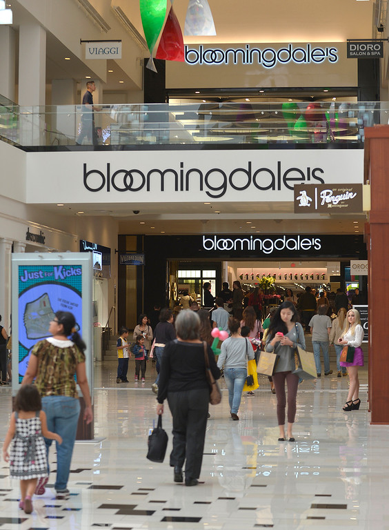 . Bloomingdales is a new addition to the Glendale Galleria. The mall has completed a major renovation and is celebrating this weekend with a grand re-opening. Glendale, CA. 11/8/2013. photo by (John McCoy/Los Angeles Daily News)