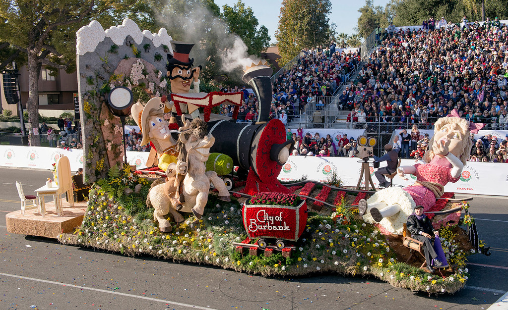 ". Burbank Tournament of Roses Association ""Lights...Camera...Action!\"" float during 2014 Rose Parade in Pasadena, Calif. on January 1, 2014. The float won Fantasy award for most outstanding display of fantasy and imagination. (Staff photo by Leo Jarzomb/ Pasadena Star-News)"