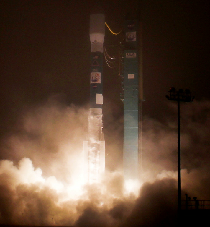 . NASA�s Orbiting Carbon Observatory-2 mission (OCO-2) launches from Vandenberg Air Force Base in California on Wednesday, July 2, 2014. The Liftoff was on a United Launch Alliance Delta II rocket at 2:56 a.m. PDT. OCO-2 was designed to measure atmospheric carbon dioxide from 438 miles above the Earth\'s surface. The goal of the mission, designed to last at least two years, is to study the processes behind how the environment absorbs carbon dioxide.  (Photo by Gene Blevins/L.A. Daily News)