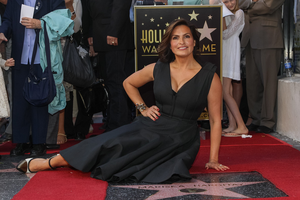 . Mariska Hargitay honored with a star on the Hollywood Walk of Fame on Friday, Nov. 8, 2103 in Los Angeles. (Photo by Paul A. Hebert/Invision/AP)