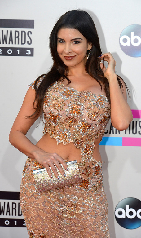 . Mayra Veronica arrives to the American Music Awards  at the Nokia Theatre in Los Angeles, California on Sunday November 24, 2013 (Photo by Andy Holzman / Los Angeles Daily News)