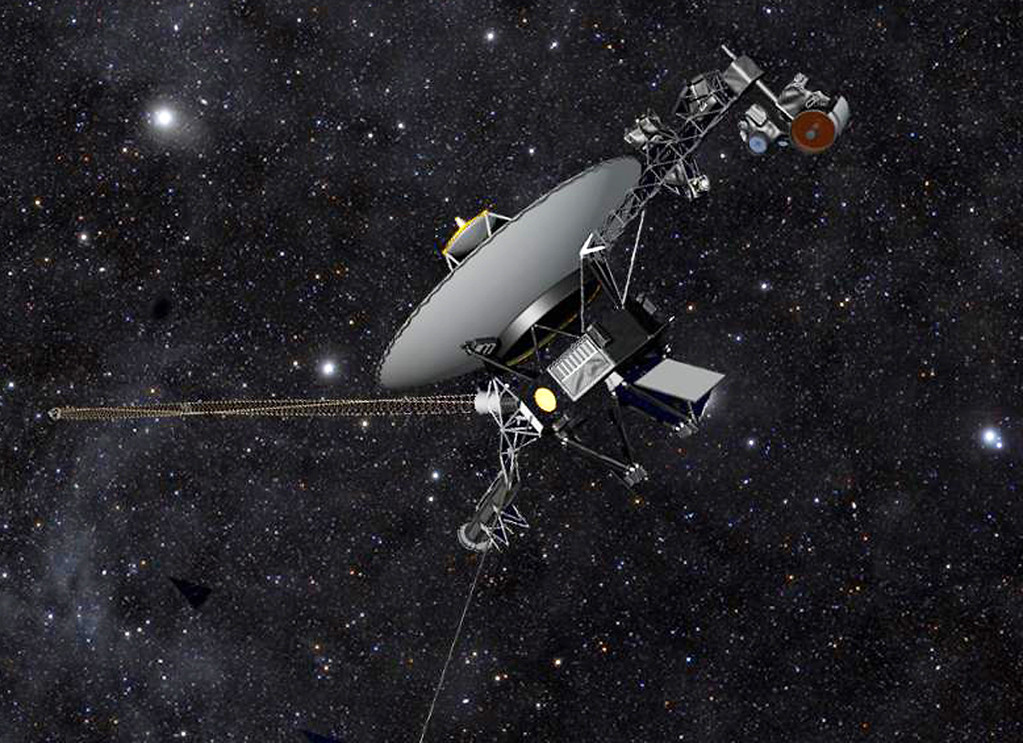 . This artist rendering released by NASA shows NASA�s Voyager 1 spacecraft barreling through space. The space agency announced Thursday, Sept. 12, 2013 that Voyager 1 has become the first spacecraft to enter interstellar space, or the space between stars, more than three decades after launching from Earth. (AP Photo/NASA)