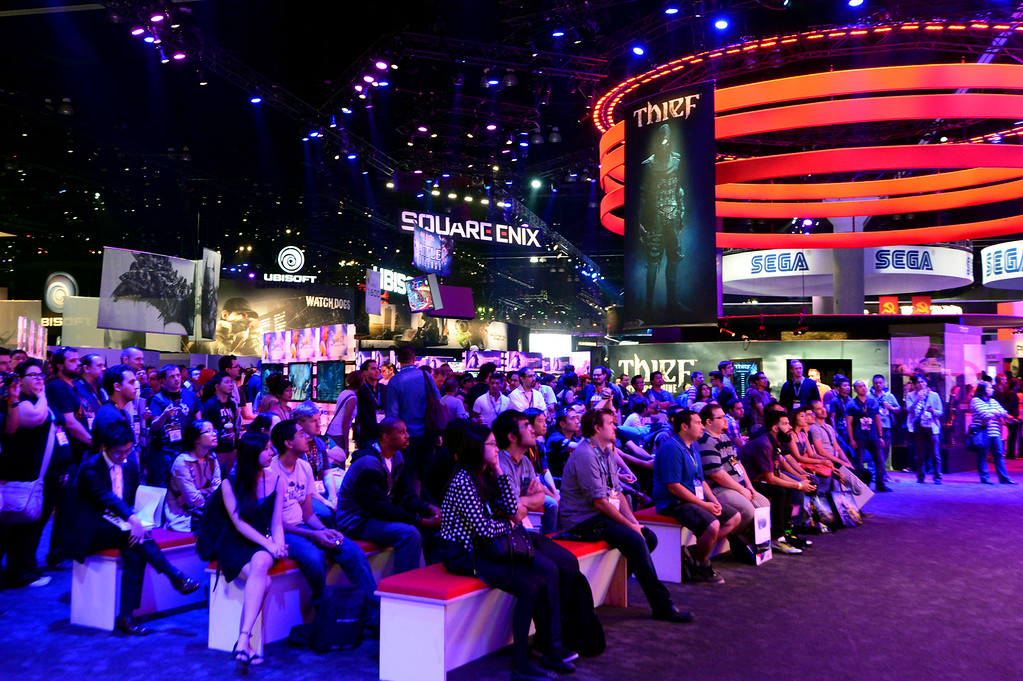 . E3 Expo at the Los Angeles Convention Center on Tuesday, June 11, 2013. E3 is the world\'s largest video game industry show. (Staff photo by Watchara Phomicinda/ Los Angeles Media News Group)