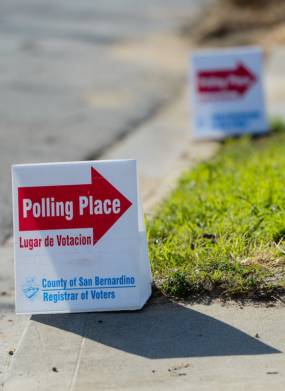 . Polling places open for the San Bernardino\'s general and special municipal election on Tuesday, Feb. 4, 2014. (Photo by Rachel Luna / San Bernardino Sun)