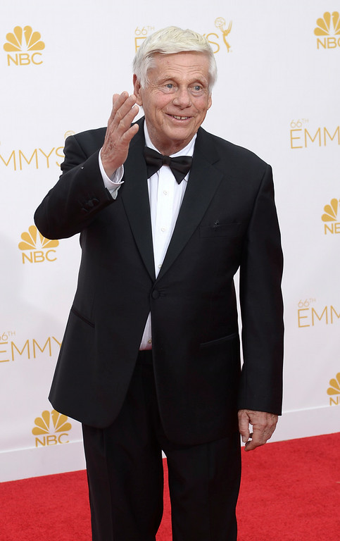 . Robert Morse on the red carpet at the 66th Primetime Emmy Awards show at the Nokia Theatre in Los Angeles, California on Monday August 25, 2014. (Photo by John McCoy / Los Angeles Daily News)