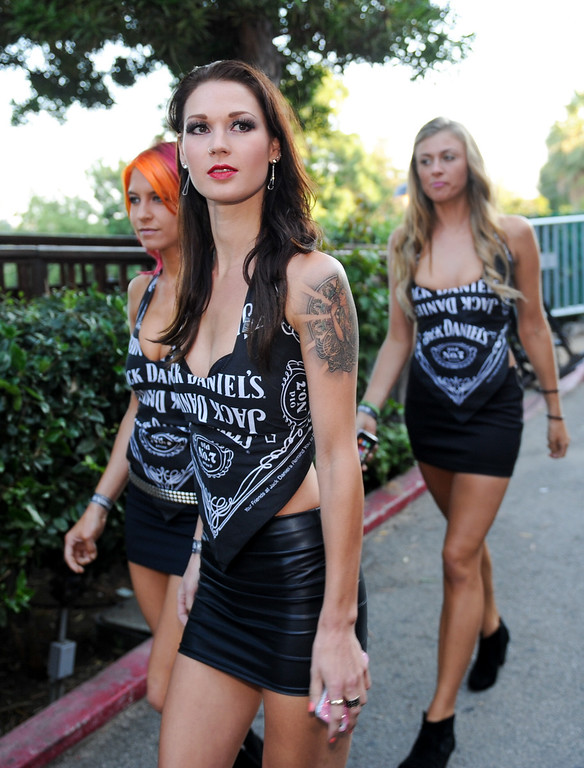 . Jack Daniel\'s ladies arrive for the Joan Jett and the Blackhearts concert at the House of Blues as part of the Sunset Strip Music Festival, Thursday, August 1, 2013. (Michael Owen Baker/L.A. Daily News)