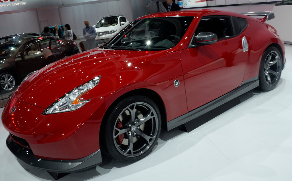 . Nov 22,2013 Los Angeles CA. The new 2014 Nissan 370-Z on displays during the 2nd media day at the Los Angeles Auto Show.The show opens today Friday and runs through Dec 1st. Photo by Gene Blevins/LA Daily News