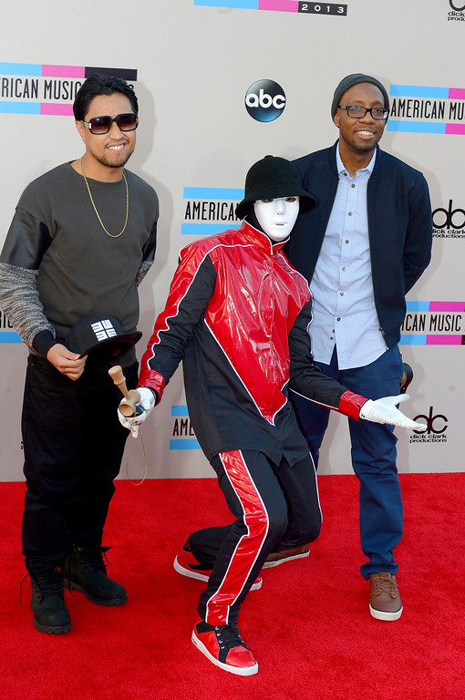 . Jabbawockeez arrives to the American Music Awards  at the Nokia Theatre in Los Angeles, California on Sunday November 24, 2013 (Photo by Andy Holzman / Los Angeles Daily News)