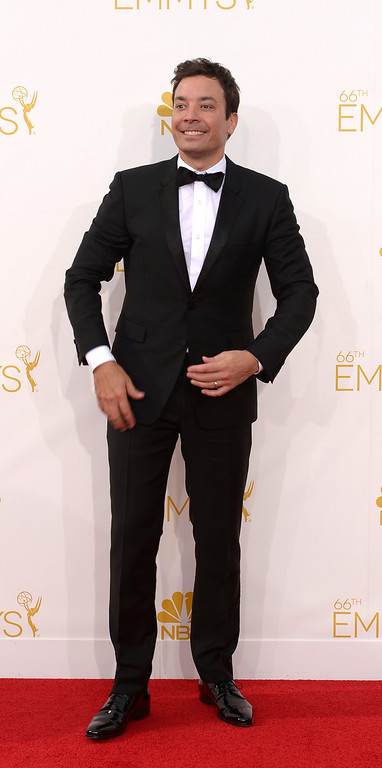 . Jimmy Fallon on the red carpet at the 66th Primetime Emmy Awards show at the Nokia Theatre in Los Angeles, California on Monday August 25, 2014. (Photo by John McCoy / Los Angeles Daily News)