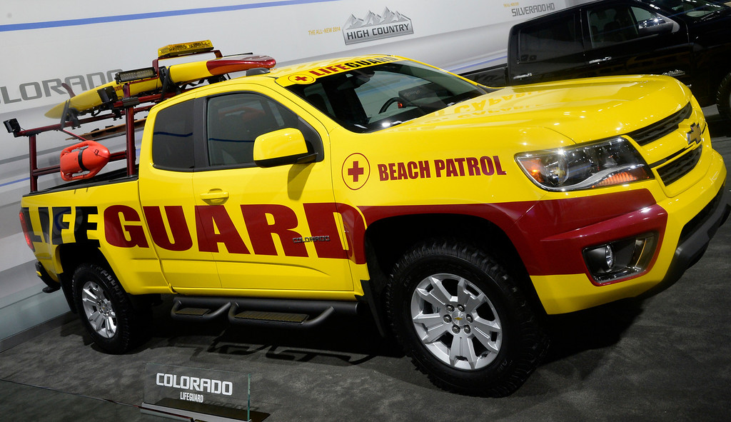 . Nov 22,2013 Los Angeles CA. The new 2015 Ford Colorado lifeguard truck on display during the 2nd media day. The show opens to the public today Friday and runs through Dec 1st.  Photo by Gene Blevins/LA Daily News