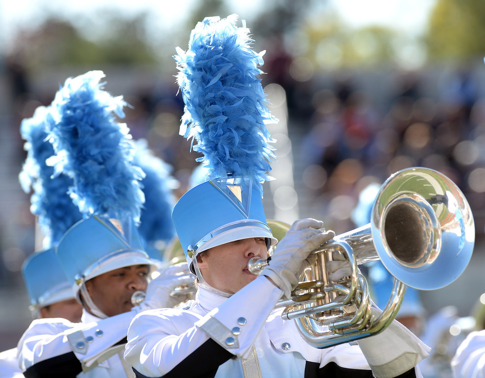 """. The Claudia Taylor \""""Lady Bird\"""" Johnson High School Marching Band from San Antonio, Texas performs during the 34th Annual Pasadena Tournament of Roses Bandfest at Pasadena City College on Monday December 30, 2013. (Staff Photo by Keith Durflinger/Pasadena Star-News)"""